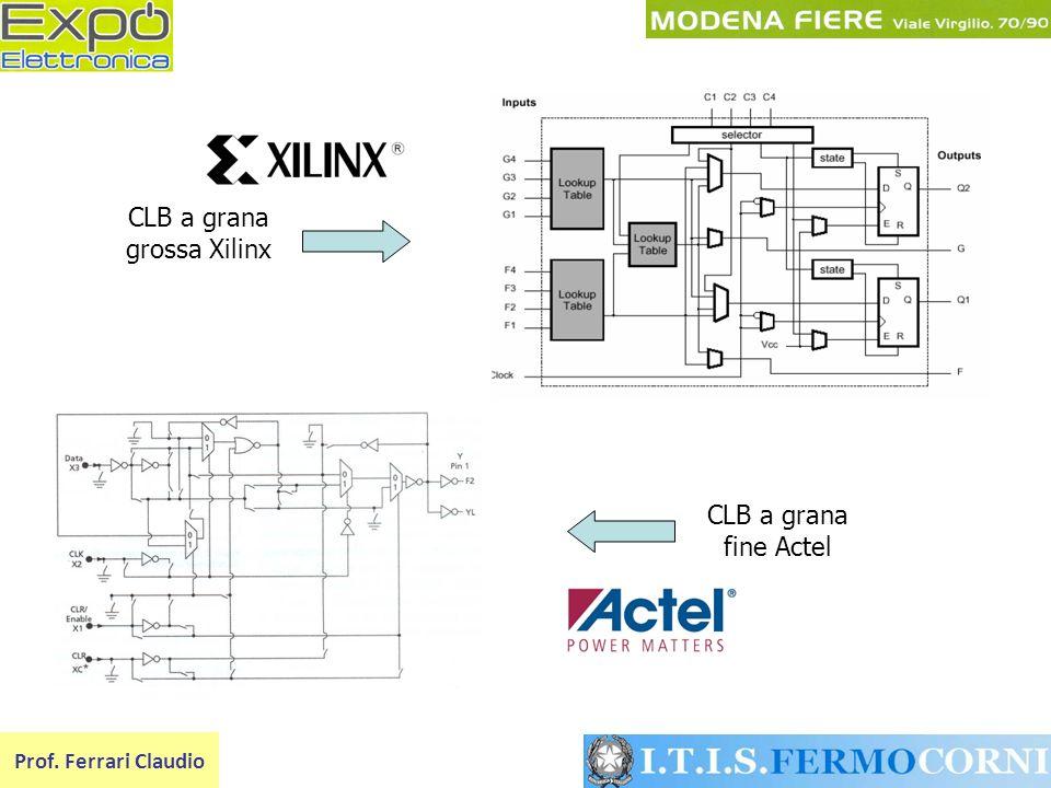 Prof. Ferrari Claudio CLB a grana grossa Xilinx CLB a grana fine Actel