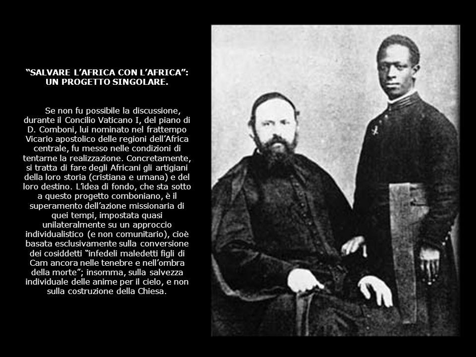 Al Vaticano I dunque, di fronte alla prospettiva di chiusura delle missioni africane, per i motivi già segnalati, ci fu praticamente solo un uomo a ma