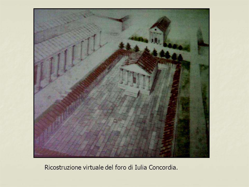 Ricostruzione virtuale del foro di Iulia Concordia.