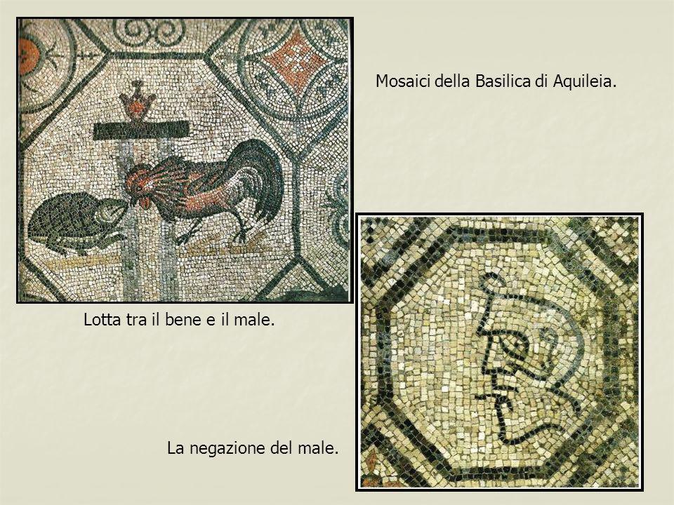 Mosaici della Basilica di Aquileia. Lotta tra il bene e il male. La negazione del male.