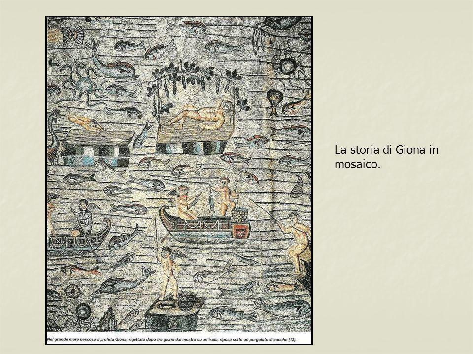 La storia di Giona in mosaico.