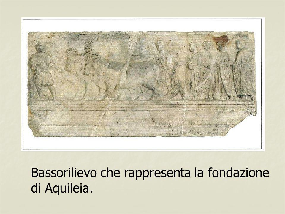 Bassorilievo che rappresenta la fondazione di Aquileia.