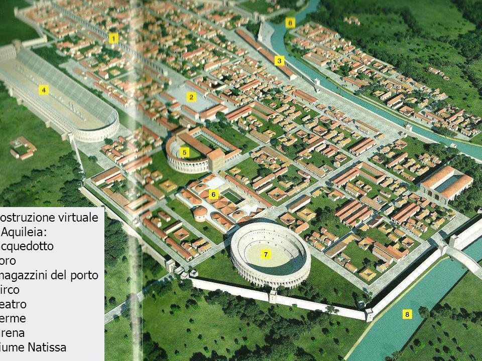 Ricostruzione virtuale del foro di Aquileia.