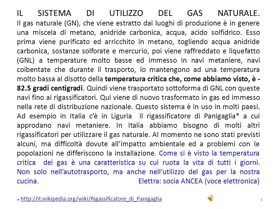 4 IL SISTEMA DI UTILIZZO DEL GAS NATURALE. Il gas naturale (GN), che viene estratto dai luoghi di produzione è in genere una miscela di metano, anidri