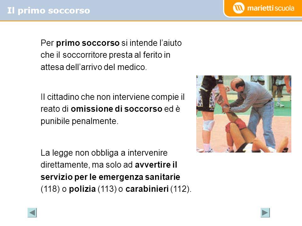 Il primo soccorso Per primo soccorso si intende laiuto che il soccorritore presta al ferito in attesa dellarrivo del medico. Il cittadino che non inte