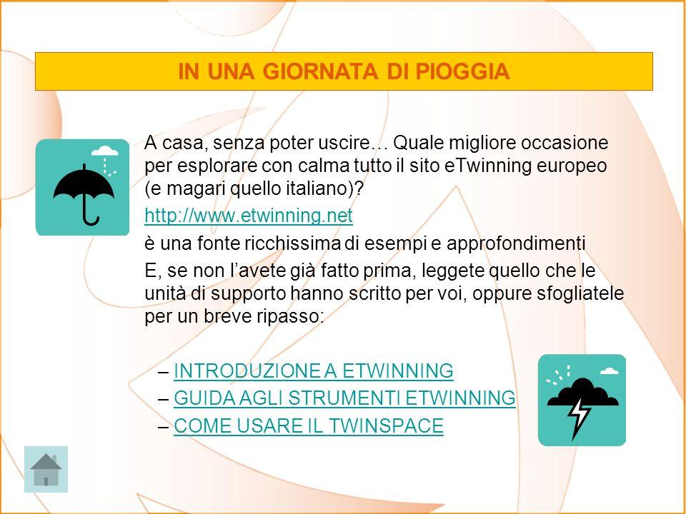 A casa, senza poter uscire… Quale migliore occasione per esplorare con calma tutto il sito eTwinning europeo (e magari quello italiano)? http://www.et