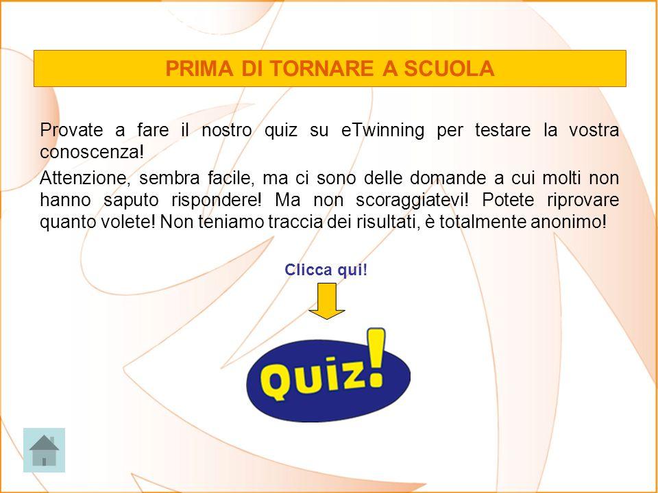 Provate a fare il nostro quiz su eTwinning per testare la vostra conoscenza.