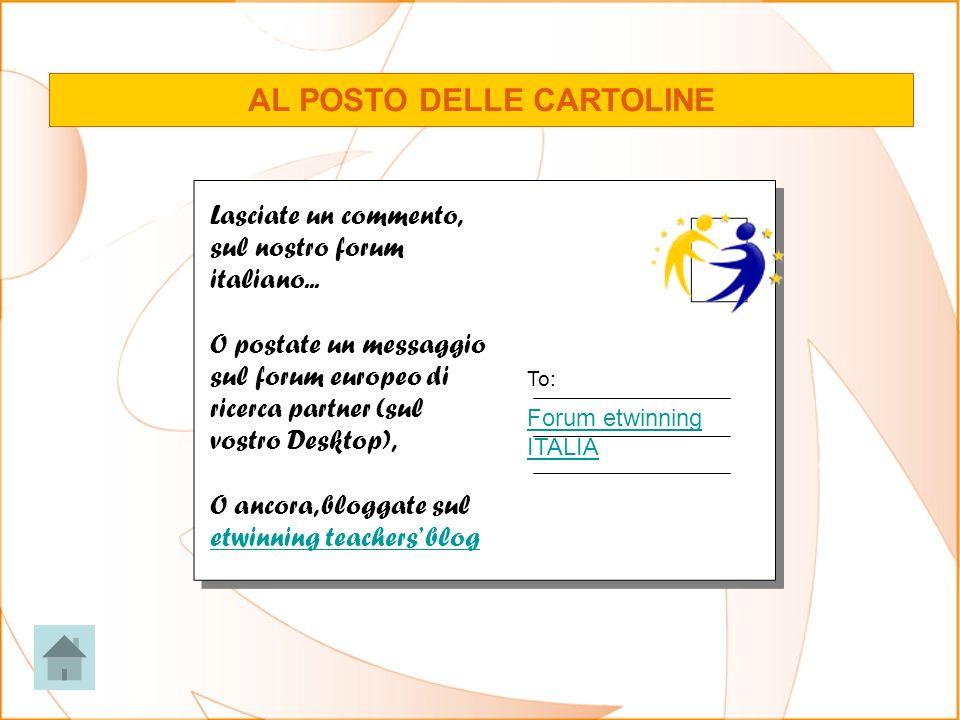 Lasciate un commento, sul nostro forum italiano... O postate un messaggio sul forum europeo di ricerca partner (sul vostro Desktop), O ancora, bloggat