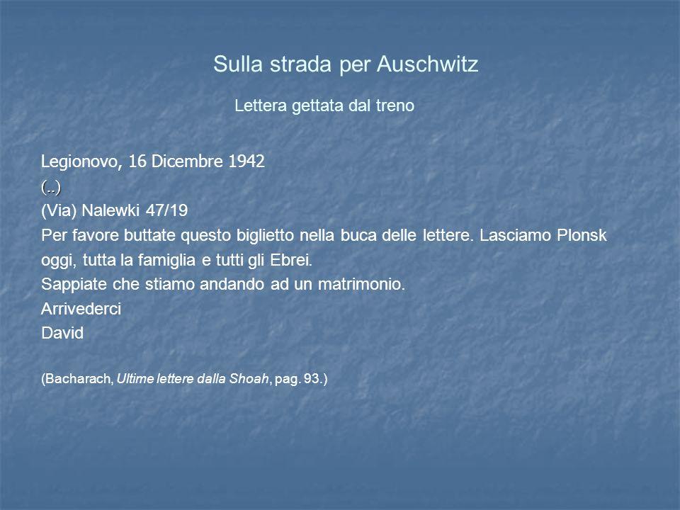 Lettera gettata dal treno Legionovo, 16 Dicembre 1942(..) (Via) Nalewki 47/19 Per favore buttate questo biglietto nella buca delle lettere.