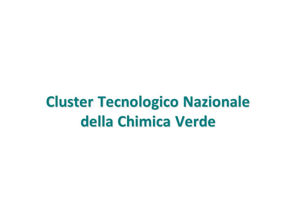 Cluster Tecnologico Nazionale della Chimica Verde Obiettivo generale Lobiettivo generale del Cluster è in linea con la Comunicazione 2011 809 della Commissione Europea, sul Regolamento che istituisce il programma quadro di ricerca e innovazione Horizon 2020, sotto la priorità Bioeconomy.