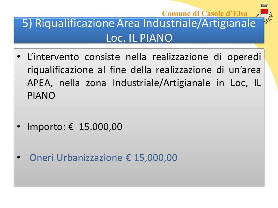 5) Riqualificazione Area Industriale/Artigianale Loc.