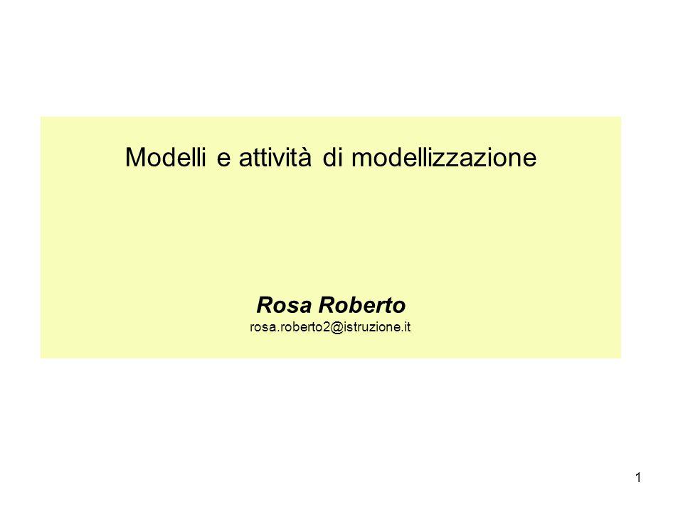 1 Modelli e attività di modellizzazione Rosa Roberto rosa.roberto2@istruzione.it