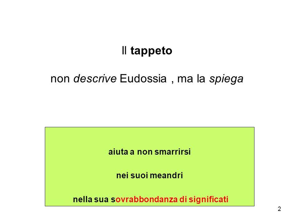 2 aiuta a non smarrirsi nei suoi meandri nella sua sovrabbondanza di significati Il tappeto non descrive Eudossia, ma la spiega
