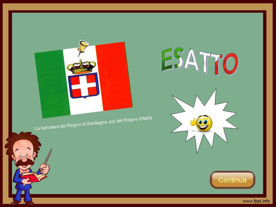 La bandiera del Regno di Sardegna, poi del Regno d'Italia