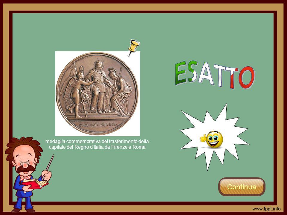 medaglia commemorativa del trasferimento della capitale del Regno d'Italia da Firenze a Roma