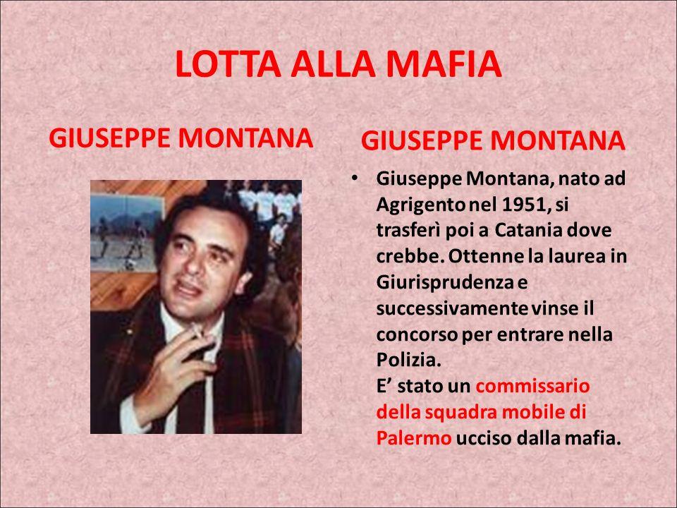 NINNI CASSARA Tra le numerose operazioni cui prese parte, molte delle quali insieme al commissario Giuseppe Montana, la nota operazione