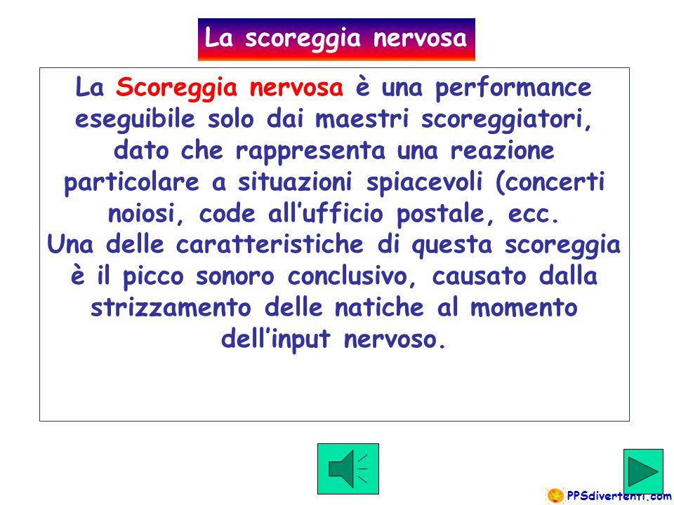 Click to hear example La scoreggia Standard è una semplice scoreggia media di tutti i giorni, adatta per ogni situazione e per ogni compagnia.