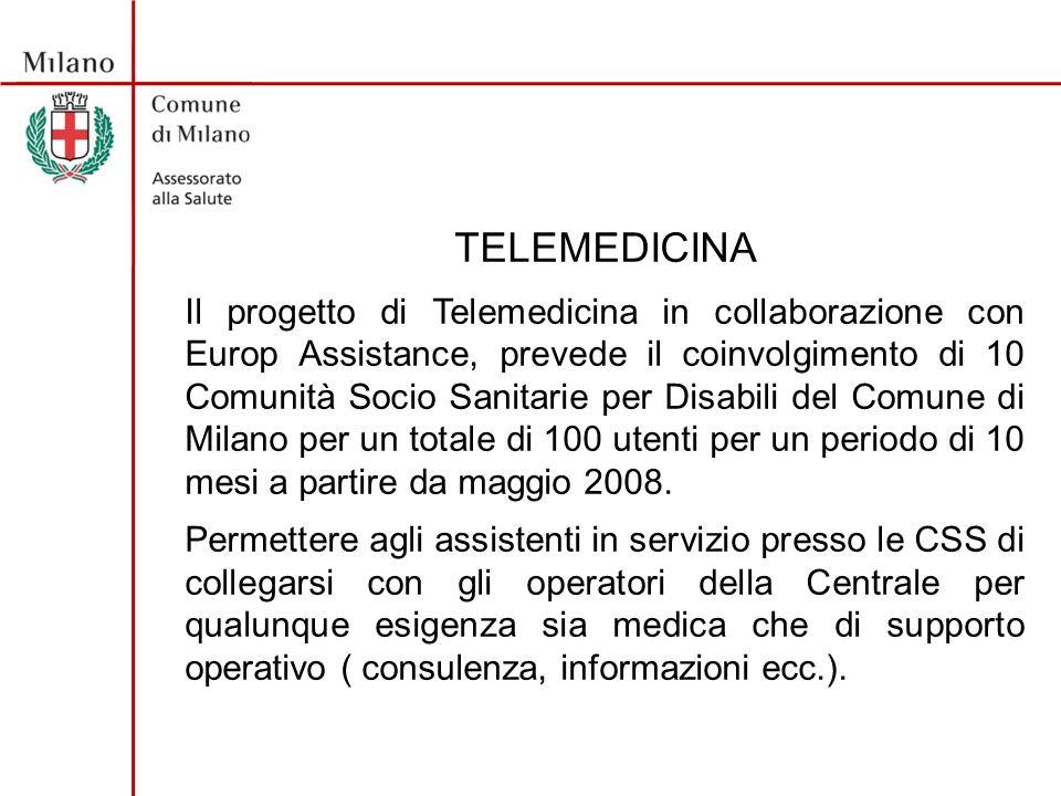 TELEMEDICINA Permette di inviare dati + ECG ai Medici di Medicina Generale tramite la Centrale Medico-Operativa.
