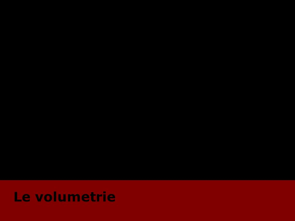 Le volumetrie