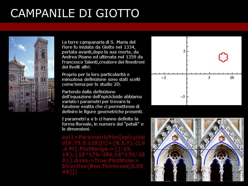 CAMPANILE DI GIOTTO La torre campanaria di S.
