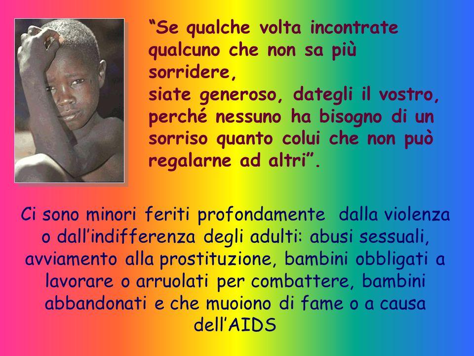 I diritti dei minori Diritto alla Vita Diritto alla Salute Diritto allEducazione Diritto alla Famiglia Diritto alla Protezione contro le discriminazio