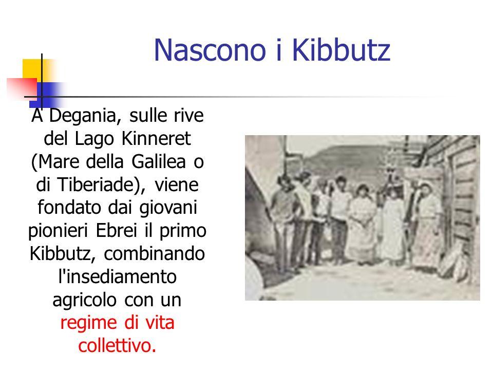 Nascono i Kibbutz A Degania, sulle rive del Lago Kinneret (Mare della Galilea o di Tiberiade), viene fondato dai giovani pionieri Ebrei il primo Kibbu