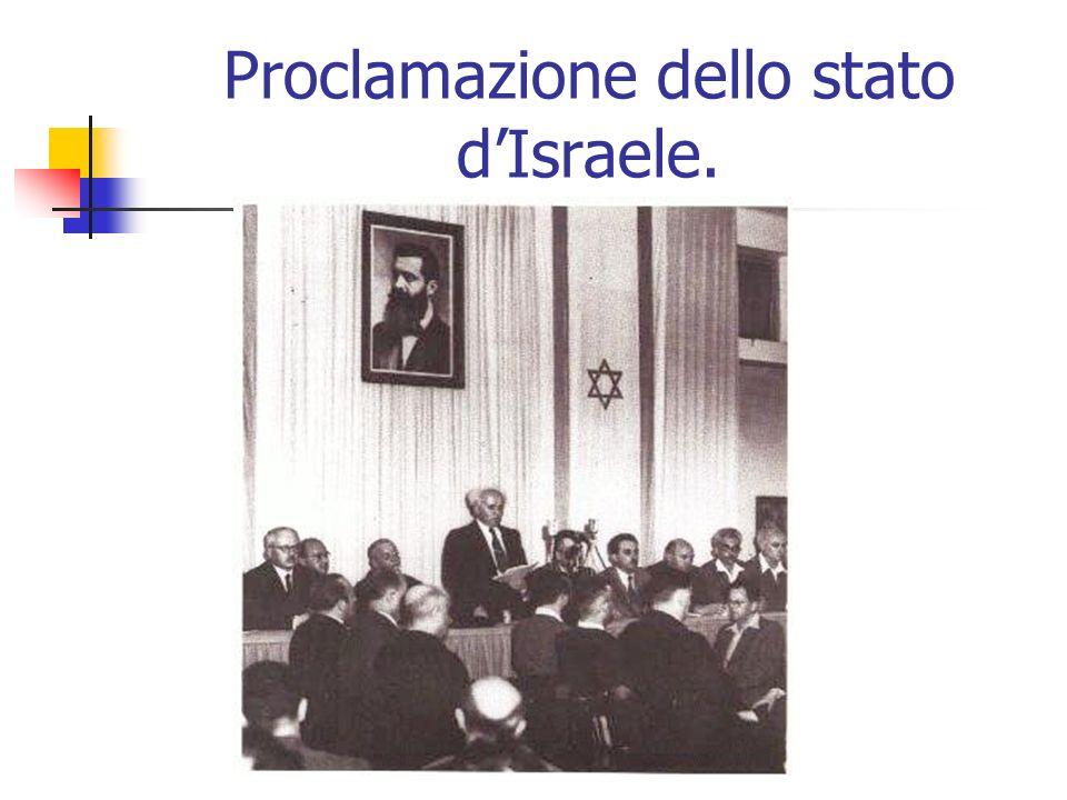 Proclamazione dello stato dIsraele.