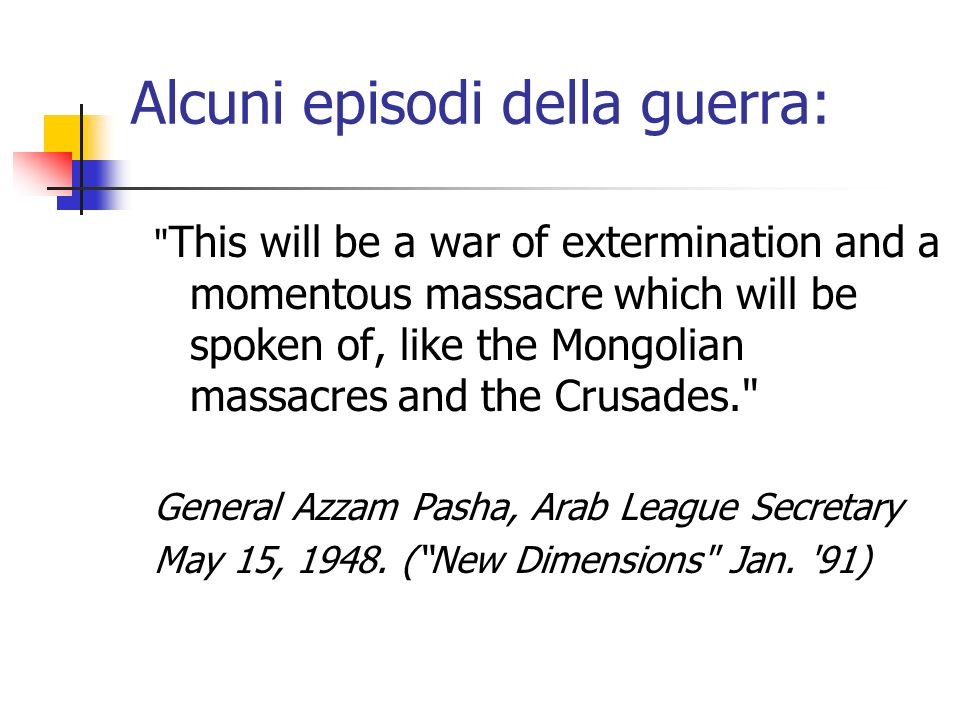 Alcuni episodi della guerra: