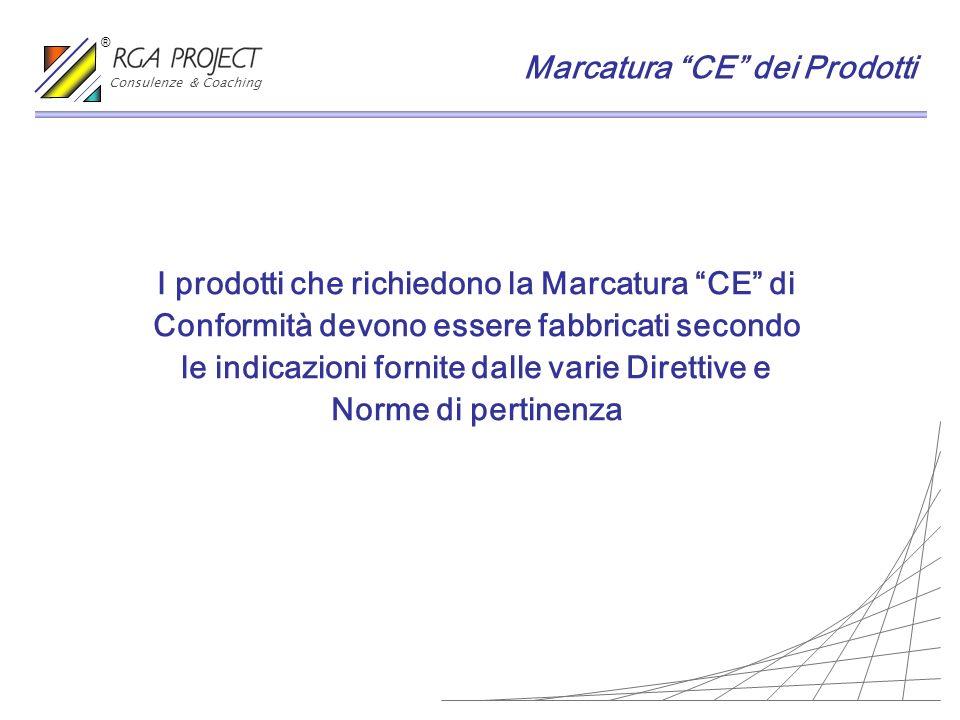 I prodotti che richiedono la Marcatura CE di Conformità devono essere fabbricati secondo le indicazioni fornite dalle varie Direttive e Norme di perti