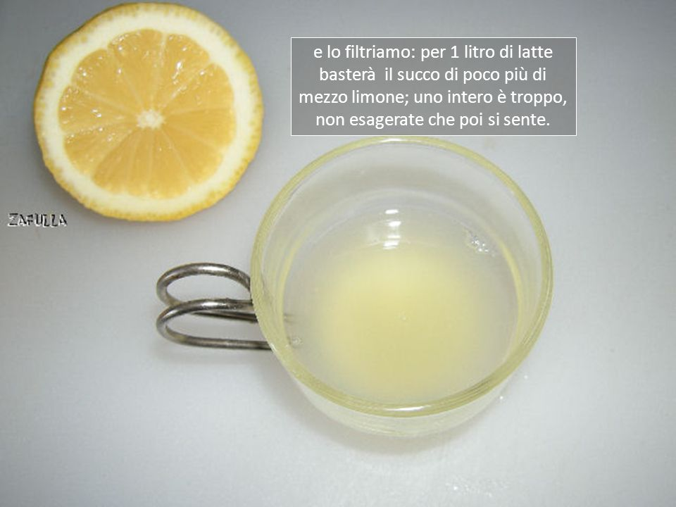 Intanto spremiamo un limone