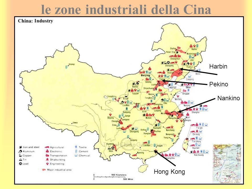 le zone industriali della Cina Hong Kong Harbin Pekino Nankino