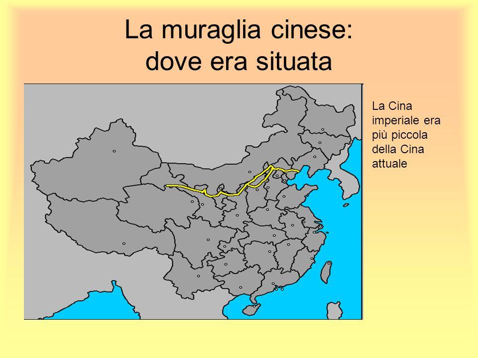 La muraglia cinese: dove era situata La Cina imperiale era più piccola della Cina attuale