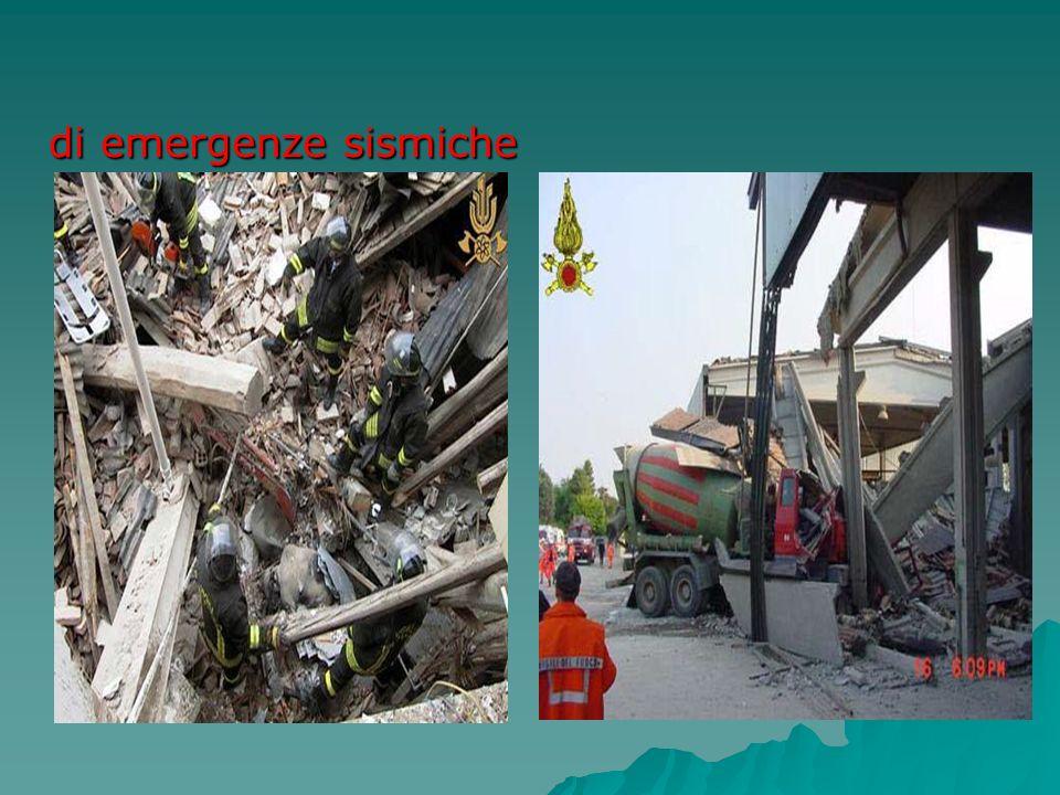 di emergenze sismiche