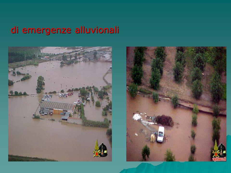 di emergenze alluvionali