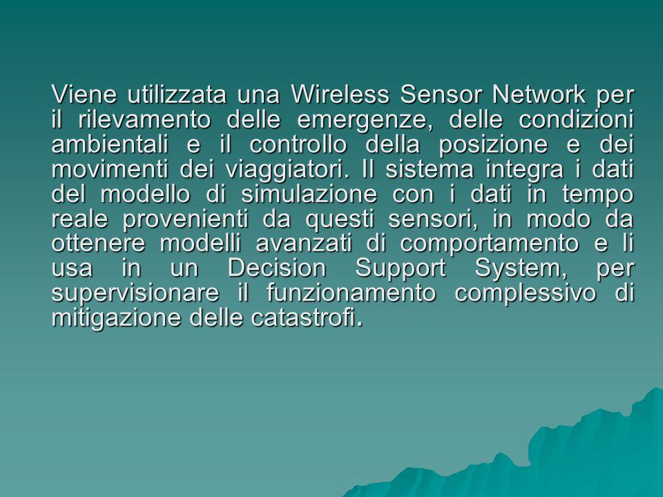 Viene utilizzata una Wireless Sensor Network per il rilevamento delle emergenze, delle condizioni ambientali e il controllo della posizione e dei movi