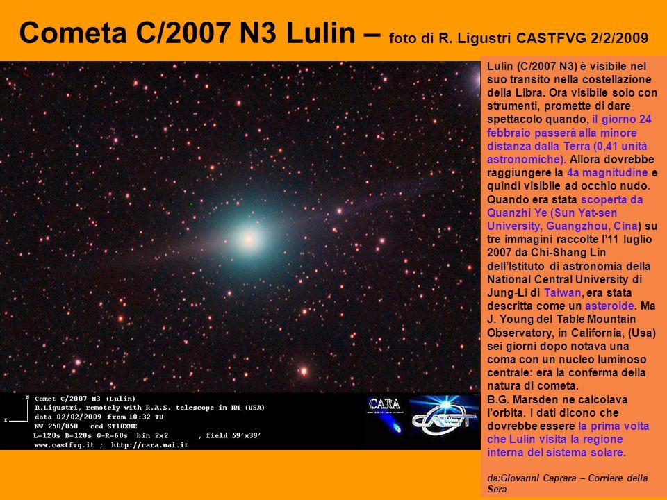 Cometa C/2007 N3 Lulin – foto di R.