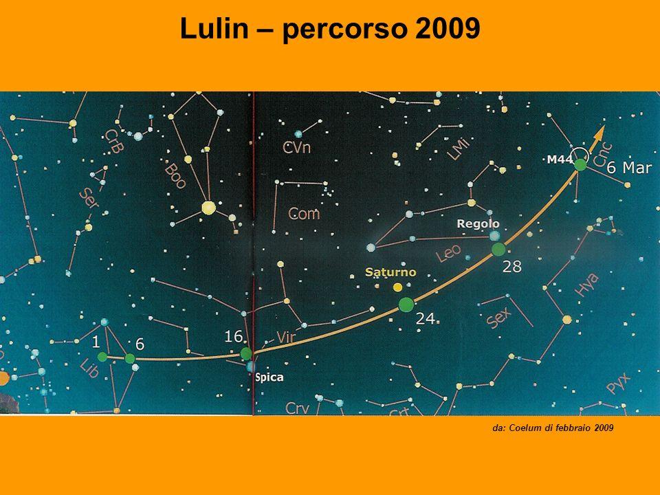 Lulin – percorso 2009 da: Coelum di febbraio 2009