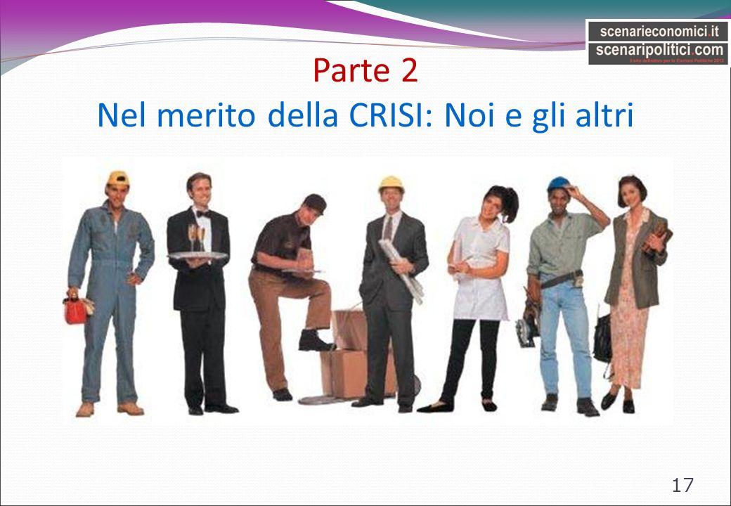 Parte 2 Nel merito della CRISI: Noi e gli altri 17