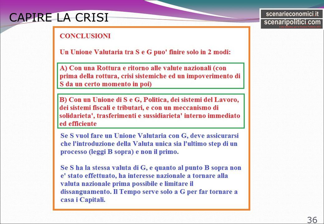 CAPIRE LA CRISI 36