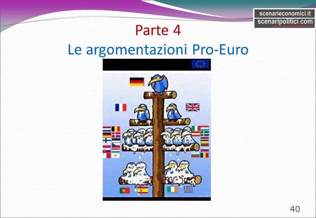 Parte 4 Le argomentazioni Pro-Euro 40
