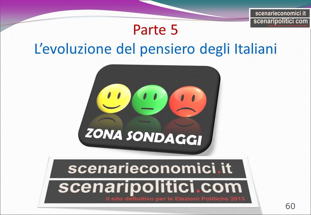 Parte 5 Levoluzione del pensiero degli Italiani 60