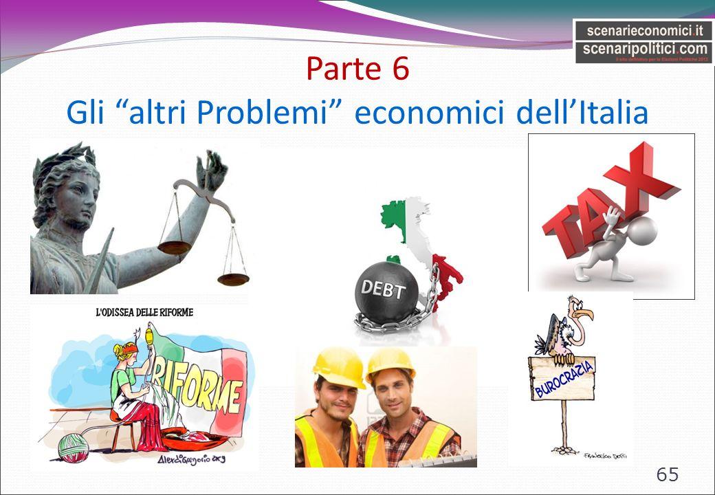 Parte 6 Gli altri Problemi economici dellItalia 65