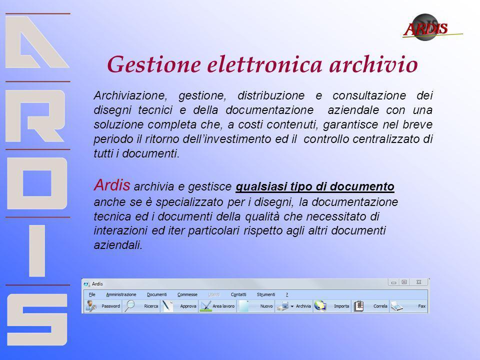 Gestione elettronica archivio Archiviazione, gestione, distribuzione e consultazione dei disegni tecnici e della documentazione aziendale con una solu