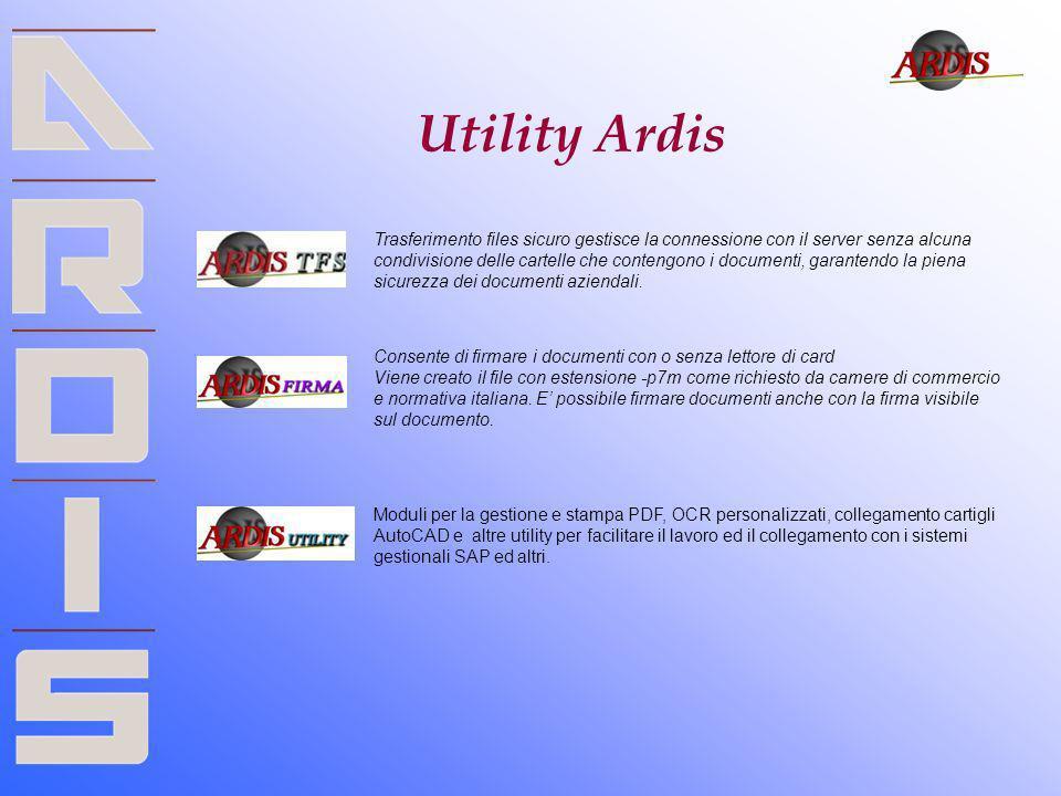 Utility Ardis Trasferimento files sicuro gestisce la connessione con il server senza alcuna condivisione delle cartelle che contengono i documenti, ga
