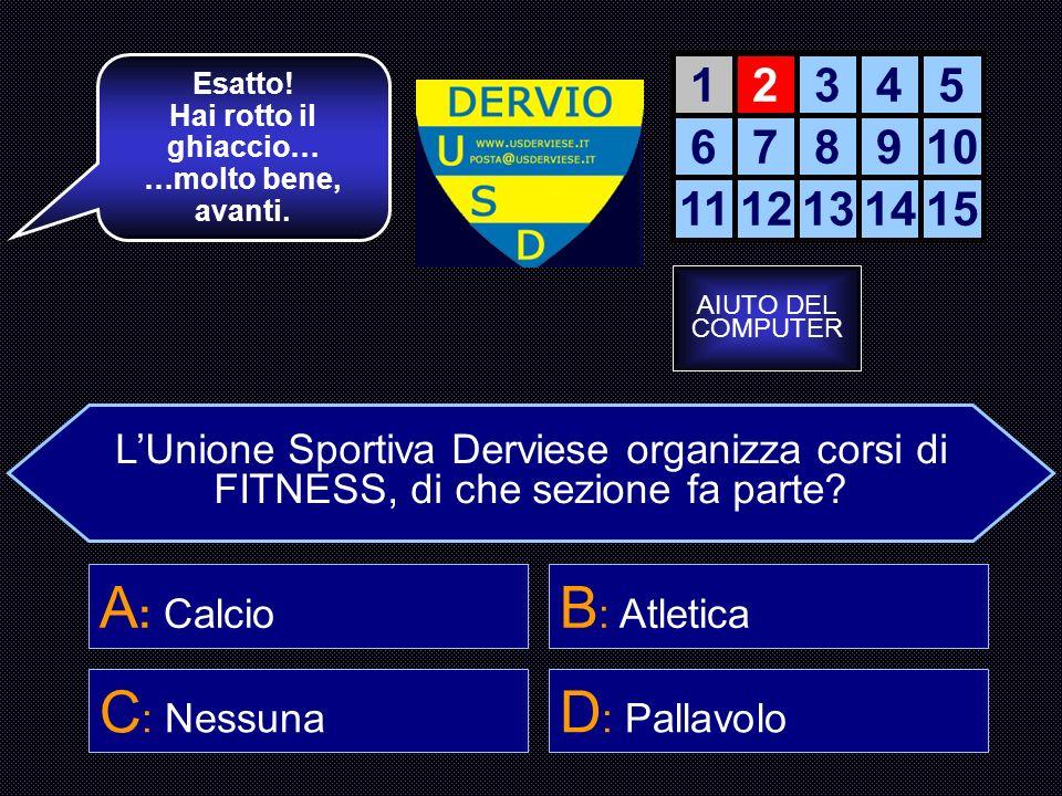 LUnione Sportiva Derviese è composta da più sezioni, quante sono.