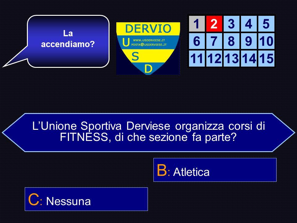 LUnione Sportiva Derviese organizza corsi di FITNESS, di che sezione fa parte.