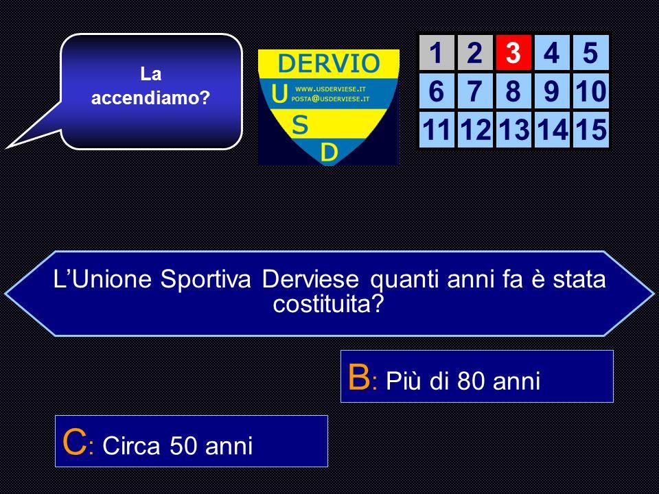 LUnione Sportiva Derviese quanti anni fa è stata costituita.
