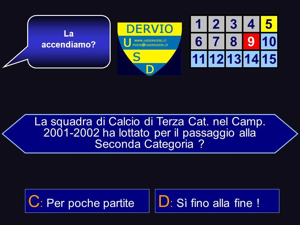 La squadra di Calcio di Terza Cat. nel Camp.