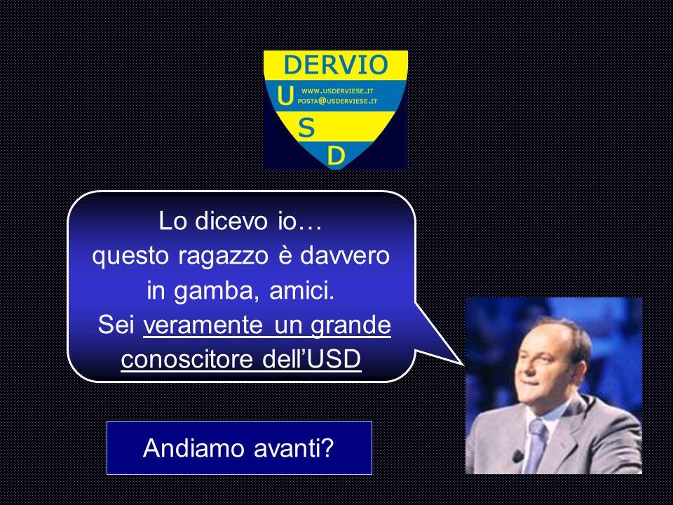 Come si chiama il Presidente dell USD. C : Sandonini Paolo 12345 678910 1112131415 La accendiamo.