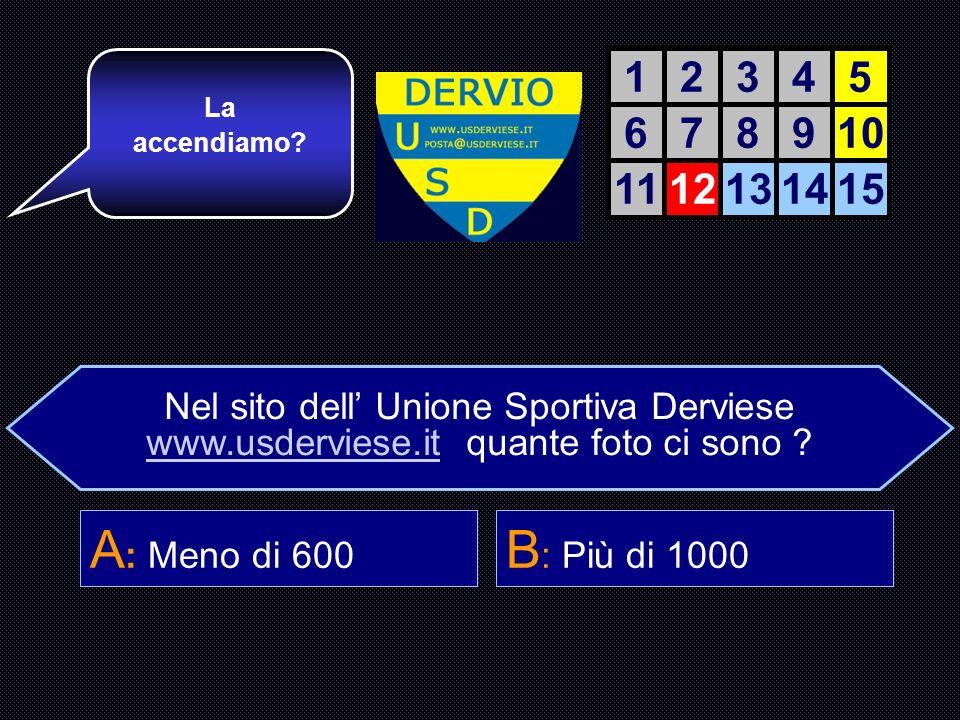 Nel sito dell Unione Sportiva Derviese www.usderviese.it quante foto ci sono .